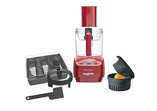 Magimix 18253EB Mini Plus Küchenmaschine, Kunststoff, Rot