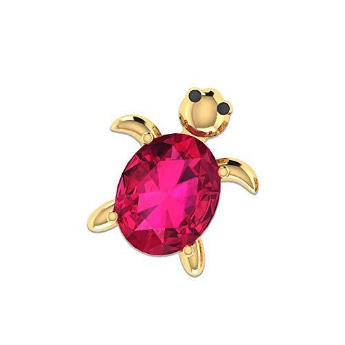 Rosec Jewels 18k Yellow-oro. ovalada rojo Rojo rubí.