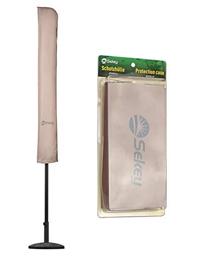 Sekey® Schutzhülle für Ø 300 cm Sonnenschirm, Abdeckhauben für Sonnenschirm,100% Polyester