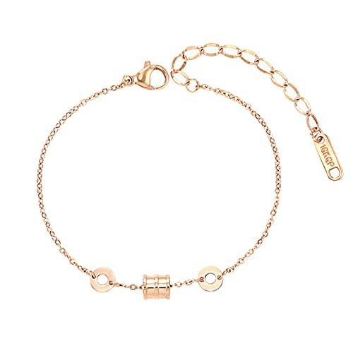 Ringerlet Stainless Steel Anklet Bracelet Rose Gold Beach Anklets Adjustable Chain Bracelet Foot Jewelry Summer Jewelry