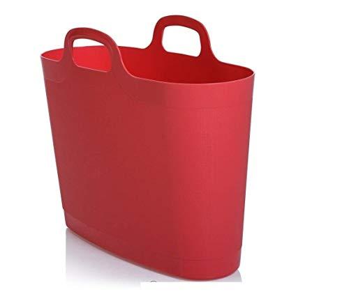WHAM 29903 Groß Flexi Bag Tragetasche, Einkaufstasche aus Kunststoff - 24,5 Liter - coral
