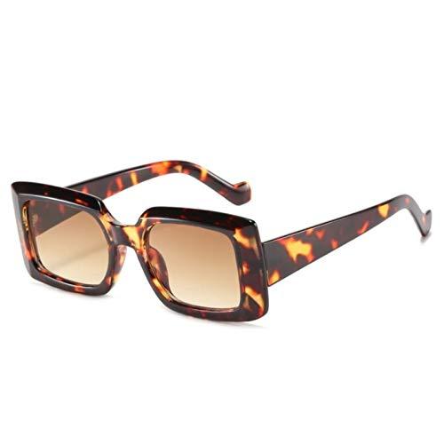 UKKD Gafas de sol Pequeñas Gafas De Sol Cuadradas Mujeres Rectángulo Rectángulo Gafas De Sol Vintage Gafas Hombres Tonos Uv400