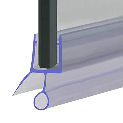Joint d'étanchéité pour porte de douche ou de baignoire - Compatible avec du verre de 4, 5 ou 6 mm - En forme de joints à bulle espacés jusqu'à 12 mm, 80 cm, 90 cm, 140 cm ou 2 m de long - SEAL002