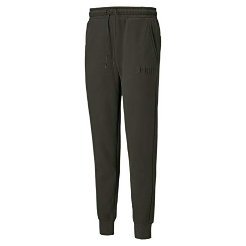 PUMA Modern Basics Pants FL Cl – Pantaloni da Uomo, Uomo, Pantaloni, 583579-70_S, Verde, S