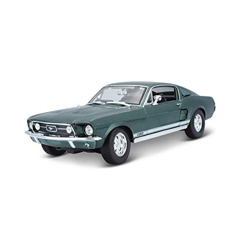 BBurago Maisto France - M31166 - Véhicule miniature - Ford Mustang GTA Fastback 1967 - Vert