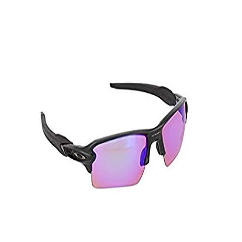 Oakley Men's OO9188 Flak 2.0 XL Rectangular Sunglasses, Polished Black/Prizm Golf, 59 mm