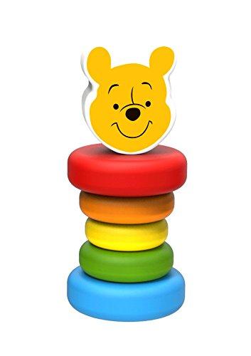 Disney l'ourson Hochet Winnie en Bois, TY027, Multicolore
