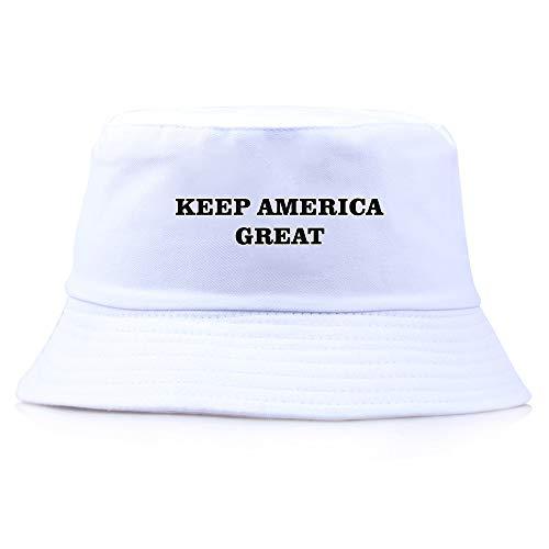 Wsysnl Trump Keep America Great 2020 Trump Wahl Parade Fisherman Hat - Weiß - L (56/58 cm)