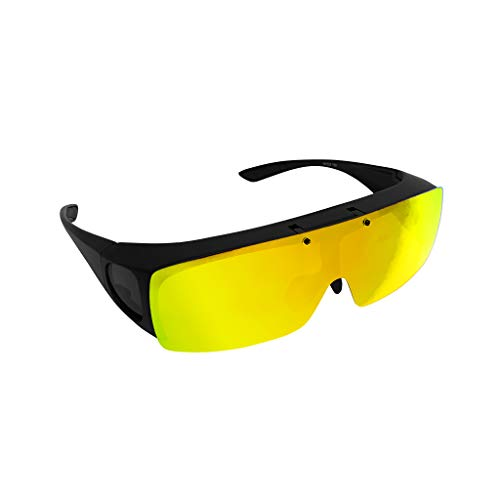 TAC FLIP Glasses by Bell+Howell Sports Polarized Flipping Sunglasses, Anti-Glare and UV-Ray Protection for Men, Military-Inspired Eyewear As Seen On TV (Yellow Night Vision)