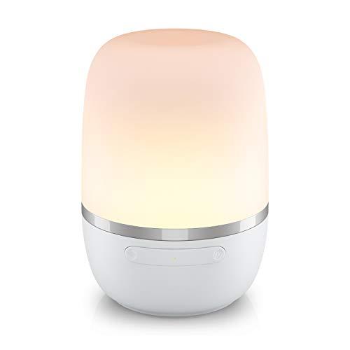 Smarte LED Nachttischlampe Meross Intelligente Dimmbar Atmosphäre Nachtlampe für Schlafzimmer Wohnzimmer, kompatibel mit Alexa, Google Assistant, mit USB-Kabel, kein Hub erforderlich