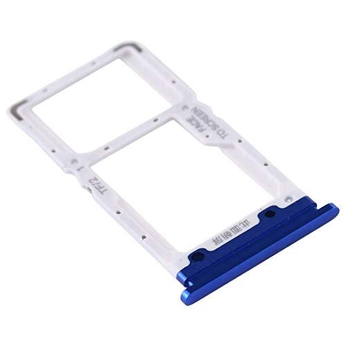 Compatible con Xiaomi Mi 9 Lite M1904F3BG / MI CC9 (6,39 pulgadas) Soporte adaptador ranura para tarjeta SIM carro Bandeja para Nano SIM + compartimento memoria Micro SD o tarjeta SIM2 (azul)