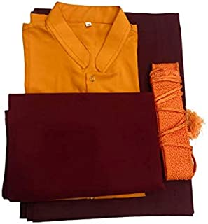 Tibetan Buddhist Monk Dress Set/Clothing/Robes/Costumes/Nun Dress/lama Dress/Extra Large Size Maroon, Yellow