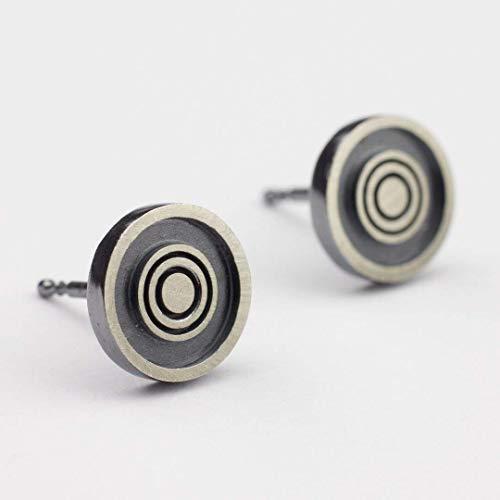 Silber-Ohrstecker Damen Kreise Ohrringe rund geometrisch außergewöhnlicher Schmuck