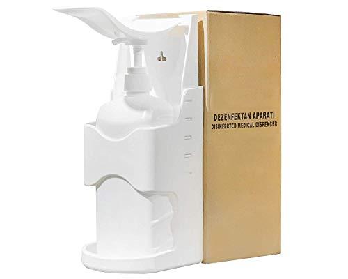 Desinfektionsmittel- Seifen- Lotion- Spender 1000ml Desinfektionsspender - Ellbogenspendler mitsamt Flasche und Trichter zum Umfüllen - Inkl 2 Flaschen CoroSept 500ml