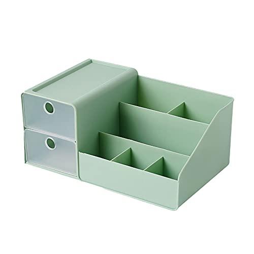 MARMODAY Kosmetik-Vitrinen, Kunststoff-Aufbewahrungsboxen für Make-up, Schubladen, Schmuck, multifunktional, Grün