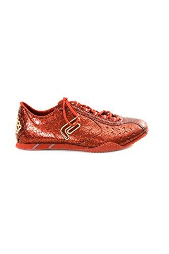 Fornarina Sneakers Craquelure-Effekt, - rot - Größe: 39 EU