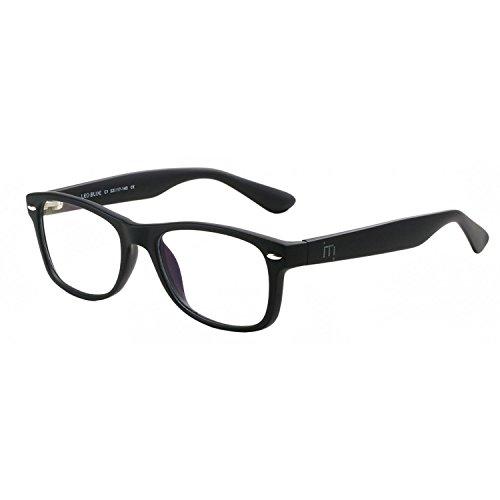 bluefree Leo–(negro) gafas de lectura filtrantes de luz azul