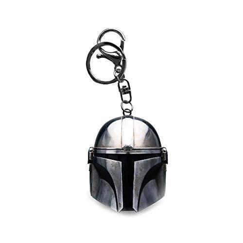 Schlüsselanhänger mit Mandalorianischem Helm, Star Wars, Lucasfilms offizieller Disney-Schlüsselanhänger