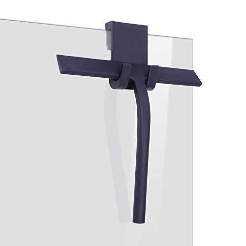 IARTISTE Duschabzieher Silikon Duschwischer Fensterabzieher Badezimmerwischer,Fensterabzieher aus Silikon mit Edelstahl-Kern für Dusche,Badezimmer,Spiegel,Glas-Reinigung,Fliesen (Black, Small)