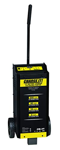 CHARGE IT! 4735 Wheeled Battery Charger (40/20/5/200 Amp. 6/12 Volt)