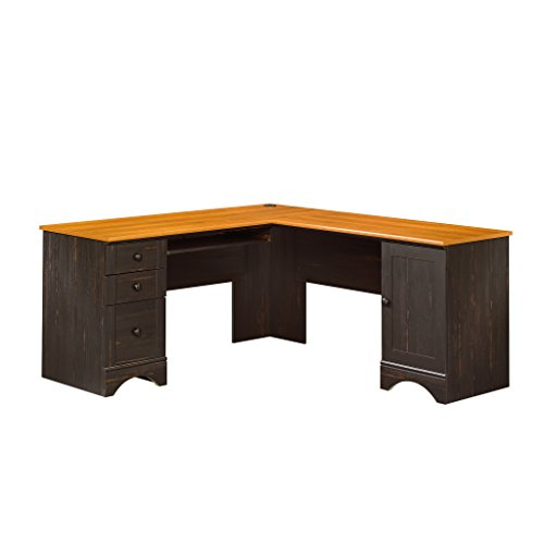 Sauder Harbor View Corner Desk Antiqued Paint