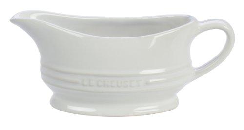 Le Creuset PG9700-1216 Stoneware 12-Ounce Gravy Boat, White