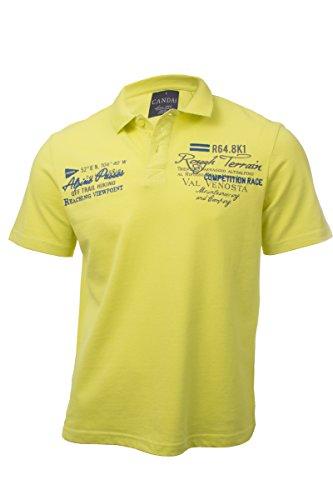 Herren Baumwoll Poloshirt Gelb Polo T-Shirt mit Kragen & Knopfleiste XXL