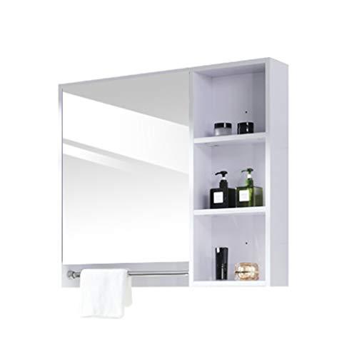 Medizinschrank mit Spiegeltüren, Badezimmer-Wandschrank mit Regal, Holzschränke Organizer für Wohnzimmer, Wohnküchenmöbel