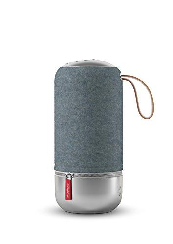 Libratone ZIPP MINI Copenhagen Edition Wireless Lautsprecher (360° Sound, Wlan, Bluetooth, MultiRoom, Airplay 2, Spotify Connect, 10 Std. Akku) steel blue