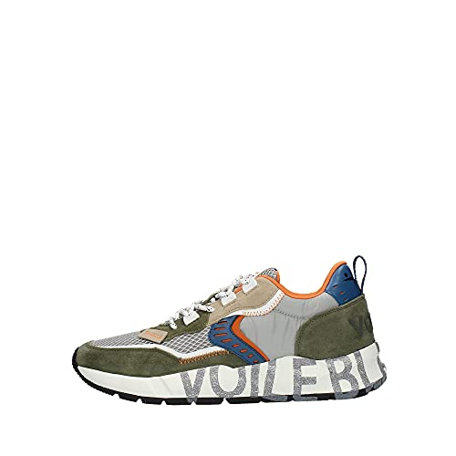 VOILE BLANCHE Sneaker Uomo in Suede e Tessuto Tecnico CLUB01 01.1F26 Army-Grey, 42
