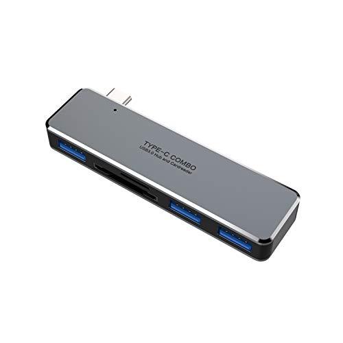 Fransande Hub USB C para Pro/Air 5 en 1 Hub USB 3.1 a puertos USB 3.0, lector de tarjetas TF