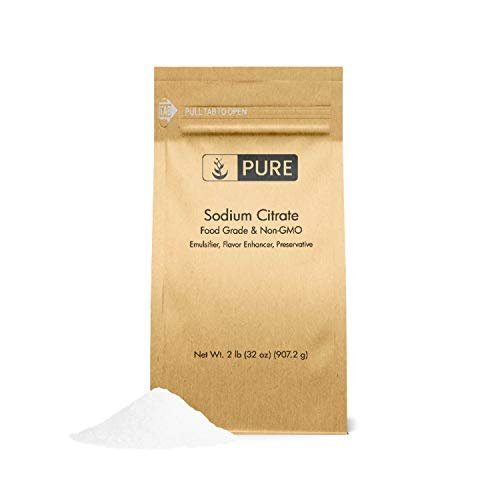 Sodium Citrate (2 lb.) by Pure Ingredients, Ingredient For Molecular Gastronomy Cooking & Recipes, Mac & Cheese, Nacho Cheese, Salty & Sour Flavoring, Seasoning, Preservative, & Antioxidant