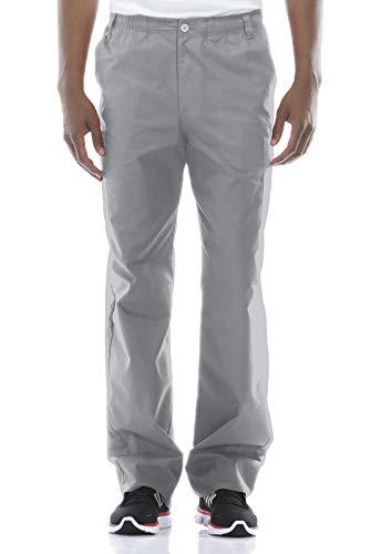 Dickies Men's Signature Elastic Waist Scrubs Pant, Grey, Small
