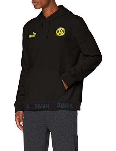 PUMA BVB Ftblculture Hoody Sudadera, Hombre, Black, S