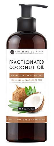 Fractionated Coconut Oil 16oz by Kate Blanc. For Aromatherapy Relaxing Massage, Carrier Oil for Diluting Essential Oils, Hair & Skin...