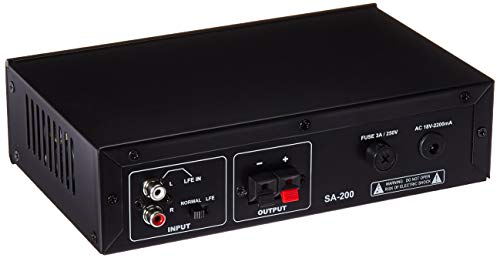 Theater Solutions SA200 Passive Subwoofer 200 Watt Amplifier for Home Theater
