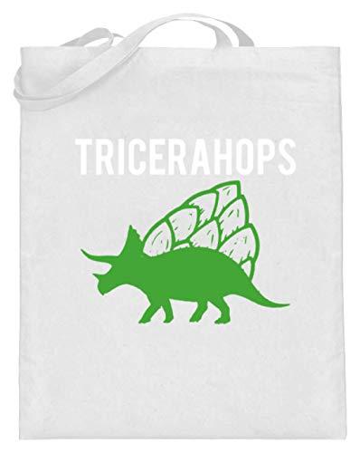 Tricerahops Triceratops con lúpulo en la espalda - Bolsa de yute (con...