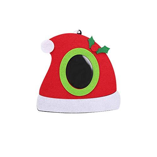 Morza No Tejido de Fotos de Navidad Marco de Fotos Marco de Imágenes de Navidad Adornos del árbol del hogar del...