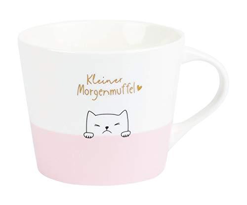 Premium-Tasse, Kleiner Morgenmuffel, Kaffeetasse, Teetasse, Goldveredlung