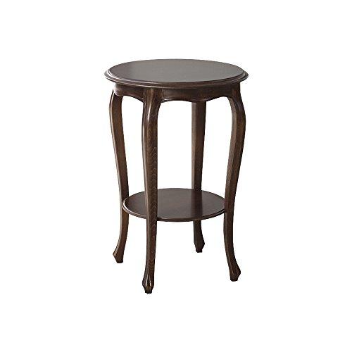 Pieffe Mobili Tavolino Rotondo Alto in Legno Noce, Taglia Unica