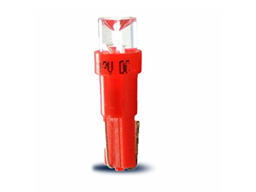M-Tech L002R Lampe LED T5 12 V concave, Set de 10