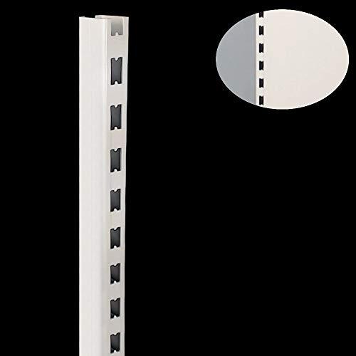 Tegometall Säule H200 juraweiß 60 x 30 x 2010 mm für Wandregal und Gondel Regale Artikelnummer 11101224