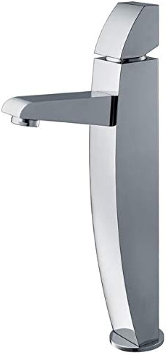 Bathroom Sink Tap Hot Cold Faucet Washbasin Single Handle Faucet Copper Hot and Cold Water High Basin Basin Faucet Basin Faucet Washbasin Faucet Heightening Above Counter Basin Faucet
