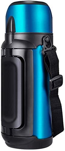 ZCRR Pote Aislante De La Jarra De Vacío, 304 Botella Deportiva De Acero Inoxidable De Gran Capacidad Termos Termos Otrios Atallos Porte Porte(Color:Blue)