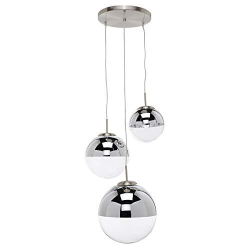 Lindby Pendelleuchte 'Ravena' dimmbar (Modern) in Transparent aus Glas u.a. für Wohnzimmer & Esszimmer (3 flammig, E27, A++) - Hängelampe, Esstischlampe, Hängeleuchte, Wohnzimmerlampe