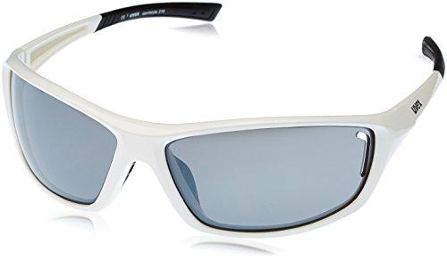 Uvex Sportstyle 210 Sportsonnenbrille, weiß (White Black/Lens Litemirror Silver), One Size