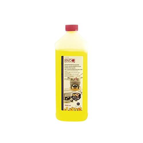 Kaufgut S.P.A. Fondue con bio-etanolo per Una combustione Pulita capacità : 1000 ml Peso della Confezione 800 Grammi Circa in Quanto Il combustibile pesa Meno di Altri liquidi Pasta, Incolore, Unica