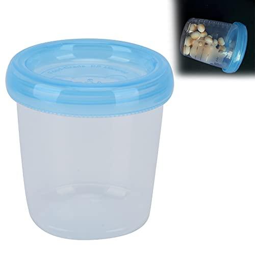 Frascos pequeños de plástico, 180 ml Recipientes de comida para bebés a prueba de fugas, tamaño pequeño, portátiles con tapas herméticas para mantener la frescura en la cocina del hogar