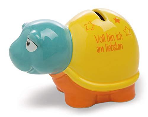 Nici 44302 Spar-Schildkröte VOLL Bin ICH AM LIEBSTEN, gelb-orange