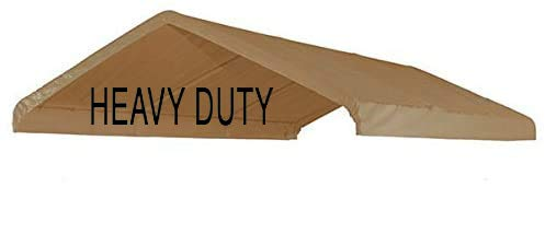10X20 Heavy Duty Beige Canopy Top Cover with Valance Event Structure